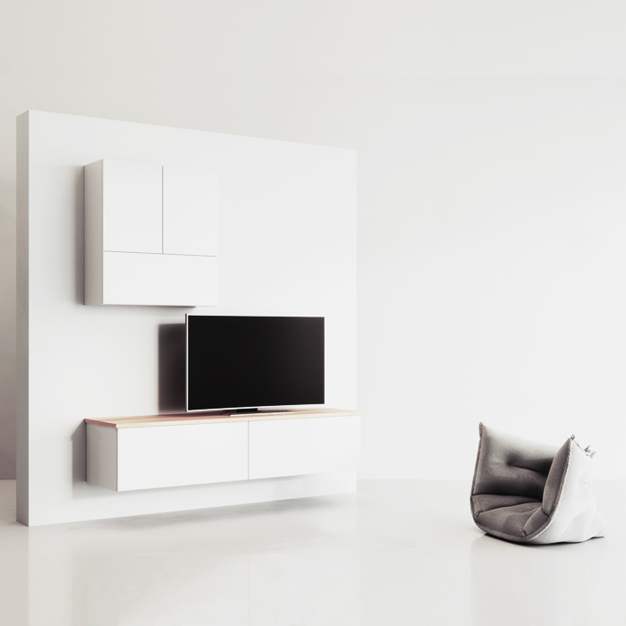 meuble tv blanc design
