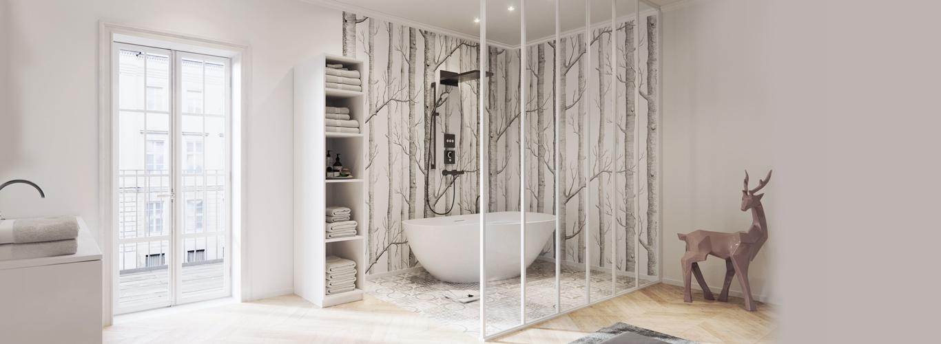 Verrière Salle de bain : Créez votre Verrière Atelier pour ...