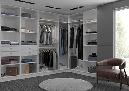 Dressing room sur mesure en angle ou en ligne devis - Construire un dressing sur mesure ...