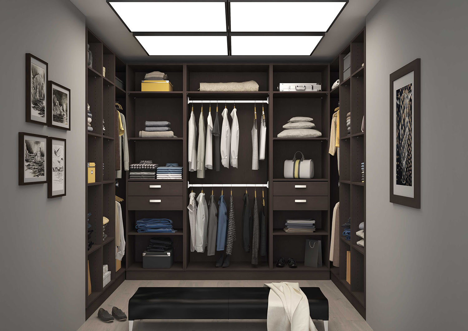 dressing room sur mesure en angle ou en ligne devis. Black Bedroom Furniture Sets. Home Design Ideas