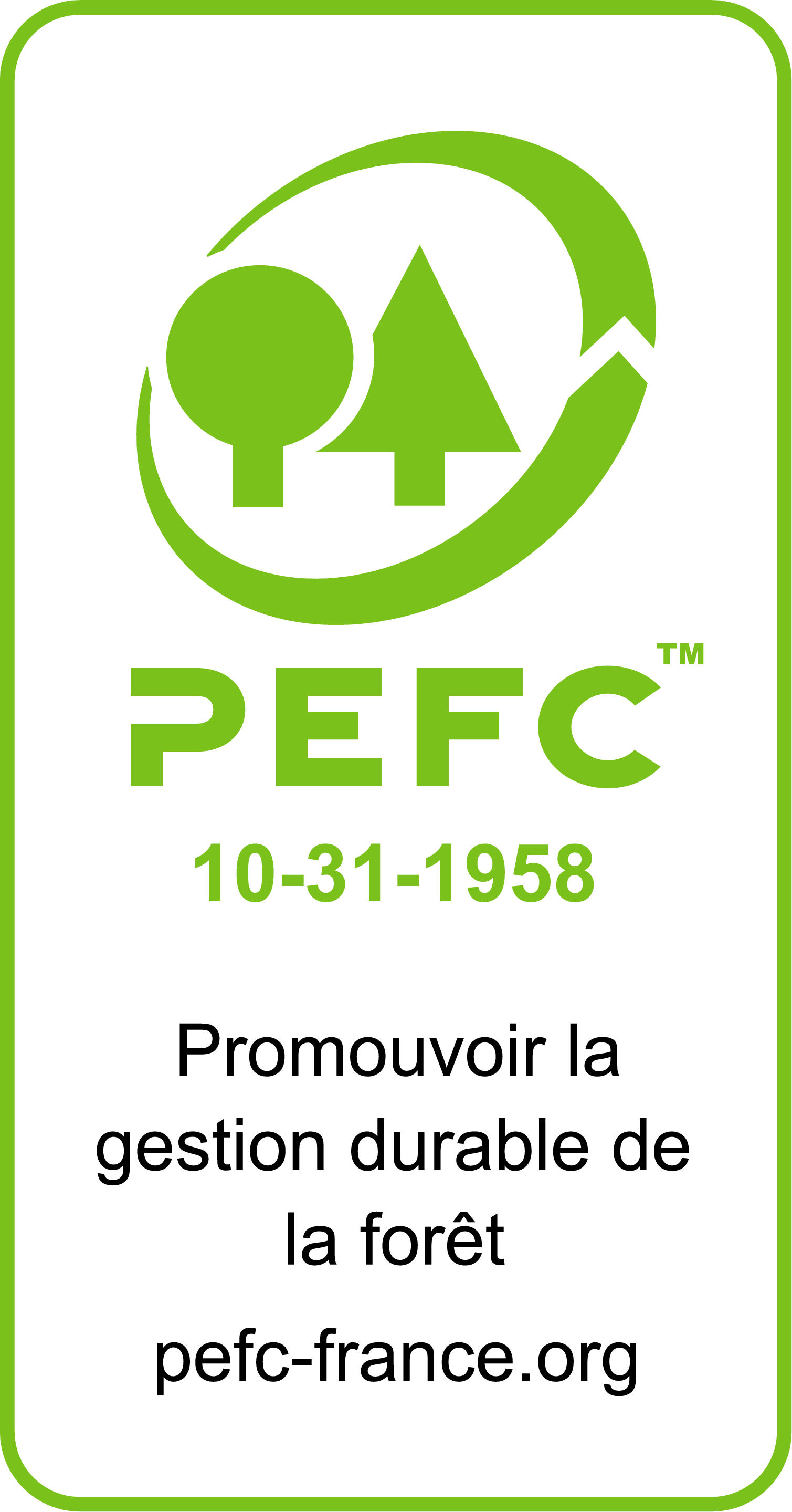 bois eco-responsable : label PEFC