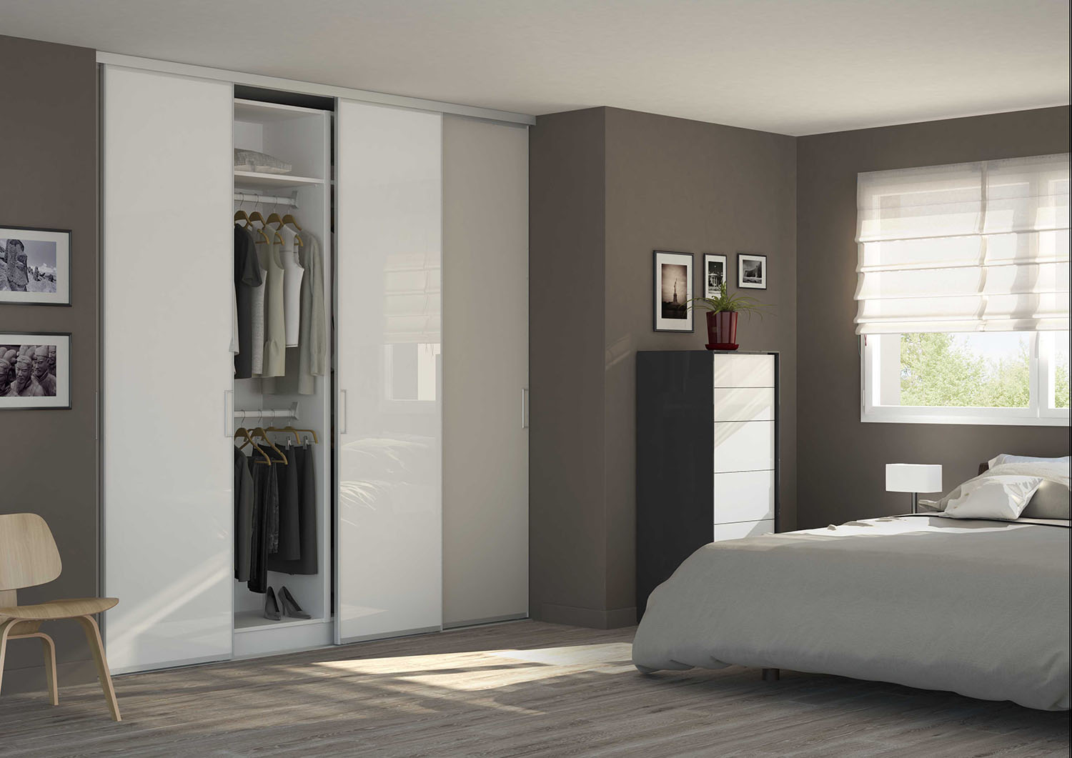 kit porte de placard coulissante tout inclus. Black Bedroom Furniture Sets. Home Design Ideas