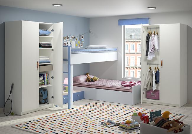 Armoire enfant sur mesure enfin une chambre bien rang e - Armoire d angle pour chambre ...