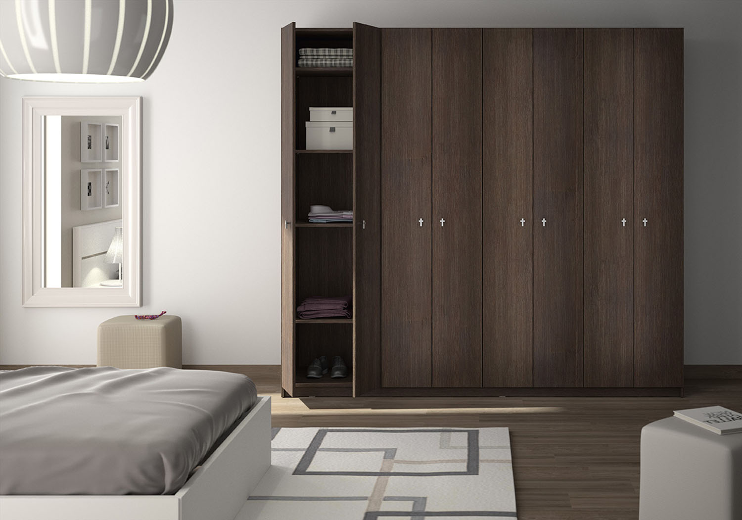 Emejing armoire chambre adulte pictures design trends for Armoire vitree chambre