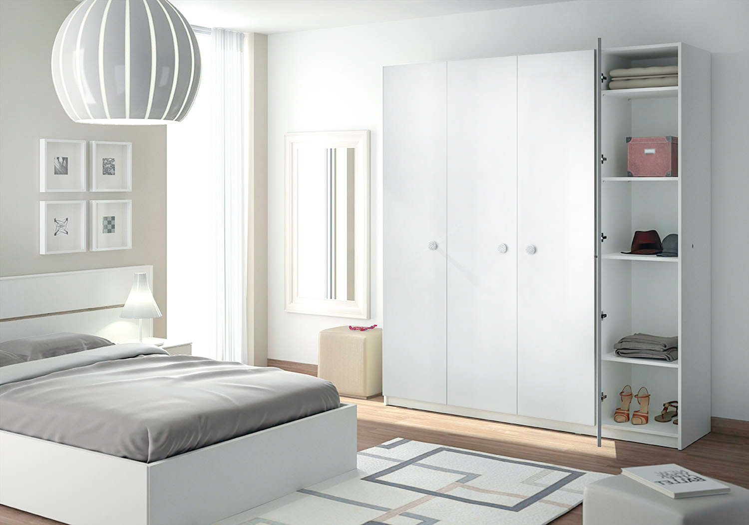 Armoire Blanche Chambre. Affordable Chambre Fille Rose Et Taupe ...