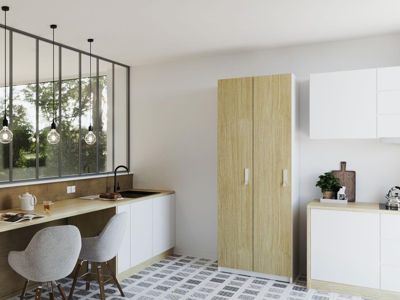 Fabriquer Des Portes D Armoires De Cuisine armoire de cuisine sur-mesure : rangement design & pratique