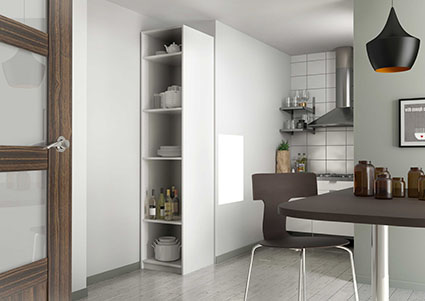 Armoire de cuisine sur mesure rangement design pratique for Rangement colonne cuisine
