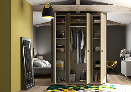 armoire penderie sur mesure de la place du design. Black Bedroom Furniture Sets. Home Design Ideas