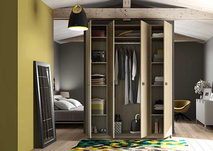 armoire penderie sur mesure de la place du design. Black Bedroom Furniture Sets. Home Design Ideas