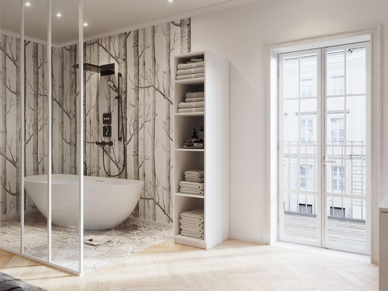 Creer Rangement Salle De Bain armoire & colonne de salle de bain sur-mesure | centimetre