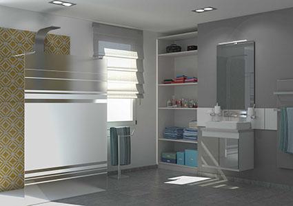 Placard de rangement sur mesure personnaliser en ligne for Placard salle de bain