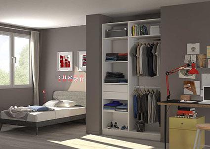 Placard dressing le rangement chic pratique centimetre - Logiciel pour amenager une chambre ...