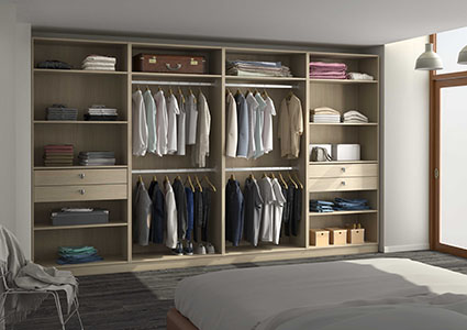 Armoire dressing sur mesure - Amenager un placard en dressing ...