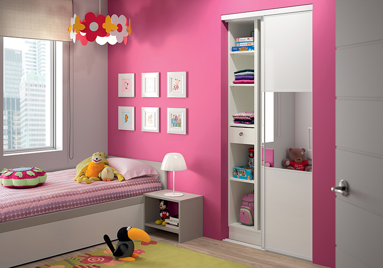 Modele chambre fille adulte for Decoration porte placard chambre