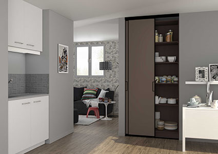 portes de placard coulissantes de cuisine sur mesure. Black Bedroom Furniture Sets. Home Design Ideas