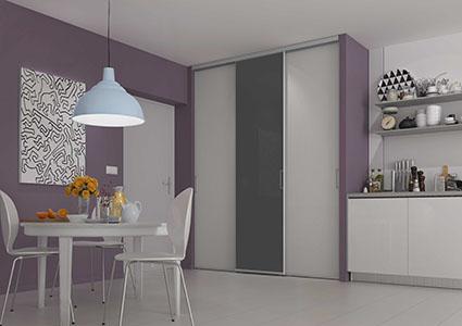 Modele de placard pour cuisine en aluminium solutions - Porte de placard de cuisine sur mesure ...
