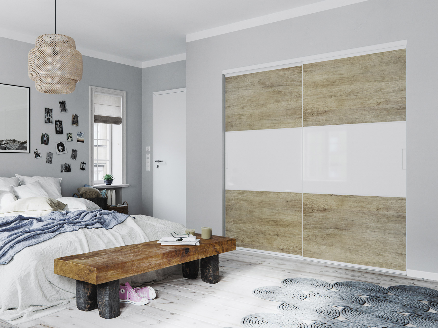 porte de placard coulissante sur mesure pas ch re. Black Bedroom Furniture Sets. Home Design Ideas
