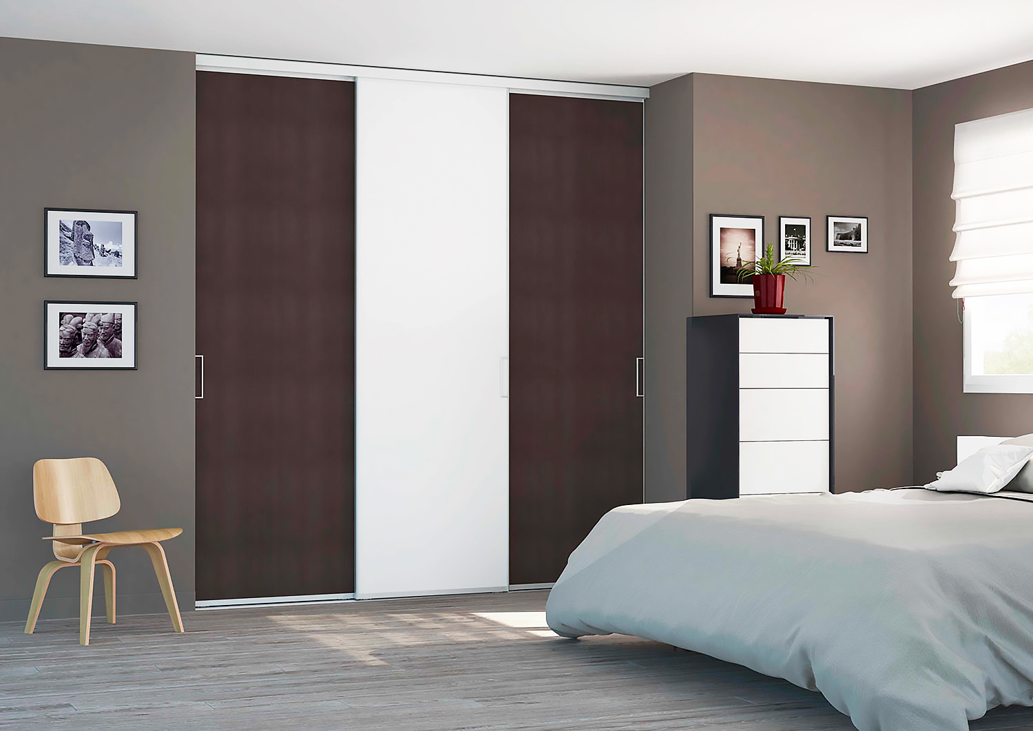 portes de placard entre with porte de placard coulissante persienne. Black Bedroom Furniture Sets. Home Design Ideas